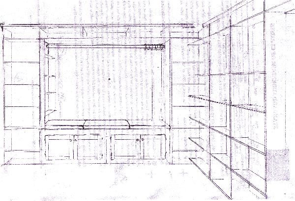 recessed bookcase plans